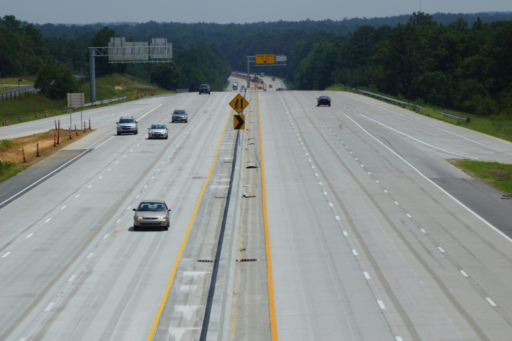 I-20 Richland County Paving Complete Spears Creek Facing East