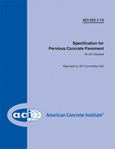 ACI 522.1-13 Pervious Spec