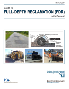 Download the Guide to Full-Depth Reclamation (FDR) with Cement